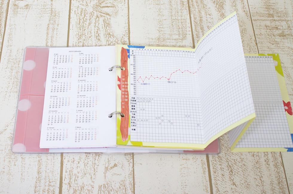 妊活手帳用基礎体温表(12枚)