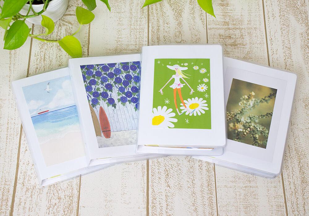 妊活手帳®︎はバインダー表紙には自由にお好きな写真やポストカードなどを貼ってご使用ください