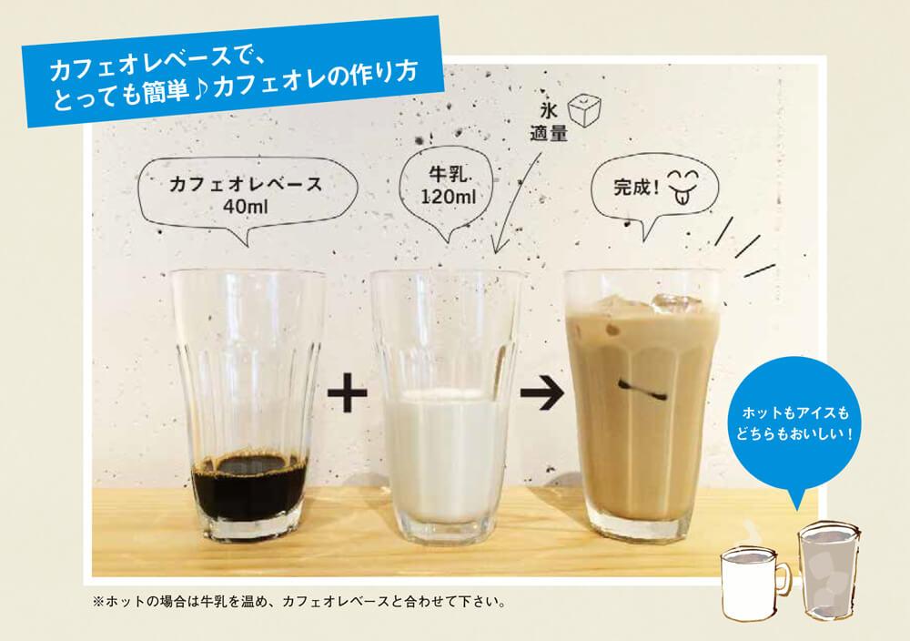 カフェオレ1人分(160ml)