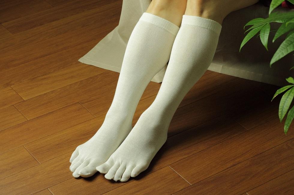 シコーニャソックスシリーズ シルクの5本指ソックス