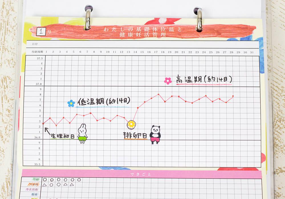 妊活手帳®︎基礎体温表説明