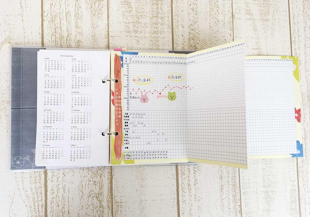 妊活手帳®︎基礎体温表全体イメージ
